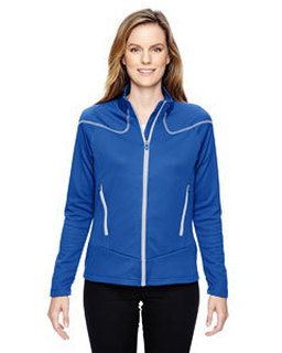 Ladies Cadence Interactive Two-Tone Brush Back Jacket