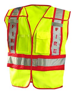 Mens Premium Solid Public Safety Fire Vest-