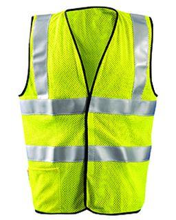 Mens Premium Flame Resistant Dual Stripe Hrc1 Mesh Vest-