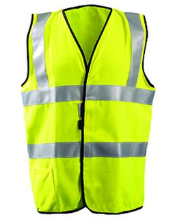 Mens High Visibility Classic Solid Standard Safety Vest-