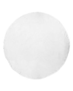 Round White Beach Towel-