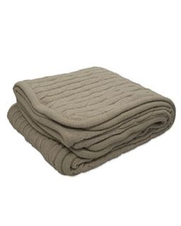 Cable Knit Lambswool Blanket-Pro Towels