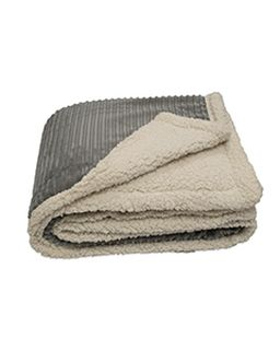 50x60 Corduroy Lambswool Throw Blanket-