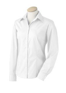Ladies Long-Sleeve Silky Poplin
