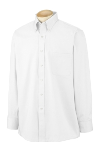 Mens Long-Sleeve Blended Pinpoint