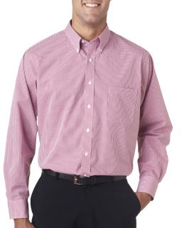 Mens Long-Sleeve Yarn-Dyed Gingham Check
