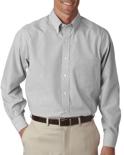 Mens Long-Sleeve Non-Iron Feather Stripe