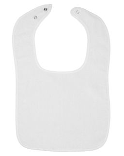 Infant Contrast Trim Terry Bib-Rabbit Skins
