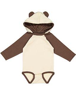 Infant Long Sleeve Fine Jersey Bodysuit With Ears-