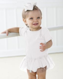 Infant Baby Rib Lap Shoulder Tutu Creeper-