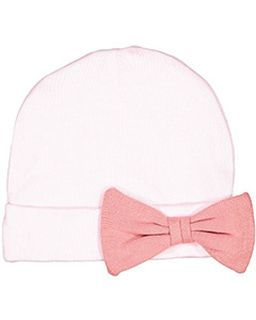 Infant Baby Rib Bow Cap-Rabbit Skins