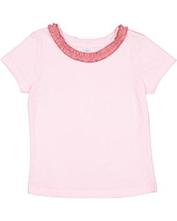 Toddler Girls Ruffle Neck Fine Jersey T-Shirt-Rabbit Skins