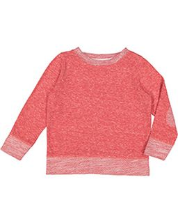 Toddler Harborside Melange French Terry Crewneck With Elbow Patches-