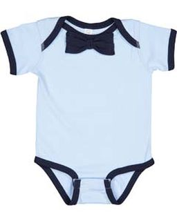 Infant Baby Rib Bow Tie Bodysuit-