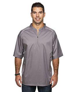 Adult Short Sleeve 1/4-Zip Poly Dobby Jacket-