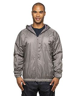 Adult Nylon Taffeta Hooded Coaches Jacket-