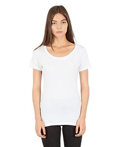 Ladies Combed Ring-Spun Cotton Scoop T-Shirt-