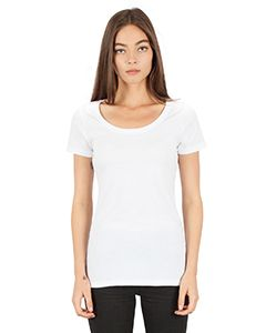 Ladies Cvc Scoop T-Shirt-