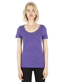 Ladies 4.6 Oz. Tri-Blend Scoop Neck T-Shirt-Simplex Apparel