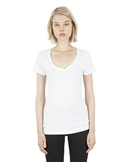 Ladies 4.6 Oz. Modal Deep V-Neck T-Shirt-Simplex Apparel