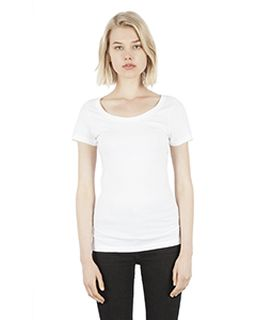 Ladies 4.6 Oz. Modal Scoop Neck T-Shirt-Simplex Apparel