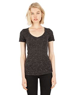 Ladies 4.3 Oz. Caviar Deep V-Neck T-Shirt-Simplex Apparel