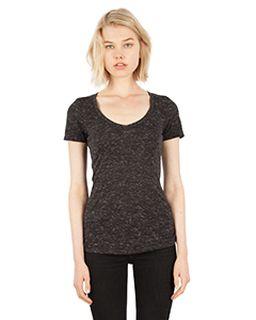 Ladies 4.3 Oz. Caviar Deep V-Neck T-Shirt-