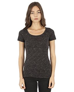 Ladies 4.3 Oz. Caviar Scoop Neck T-Shirt-Simplex Apparel