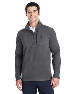 Mens Transport Quarter-Zip Fleece Pullover-Spyder