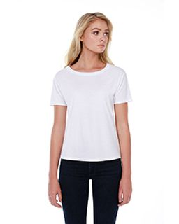 Ladies 3.5 Oz., 100% Cotton Boxy High Low T-Shirt-StarTee