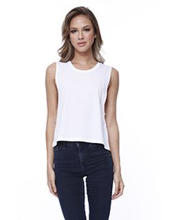 Ladies Cotton Muscle Crop T-Shirt-
