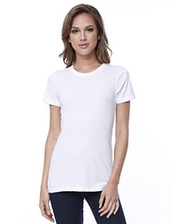 Ladies Cotton Crew Neck T-Shirt-