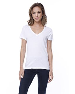 Ladies Cotton V-Neck T-Shirt-