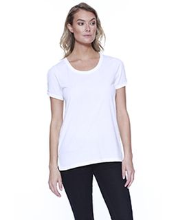 Ladies Cvc Twist Sleeve Top-