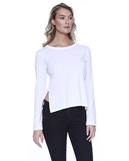 Ladies Cvc High Low Long-Sleeve T-Shirt-