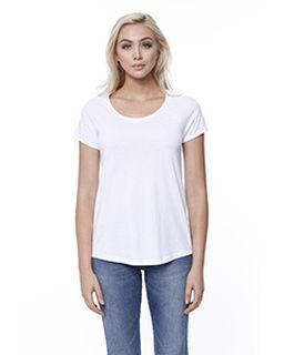 Ladies Cvc Loose Short-Sleeve Raglan-