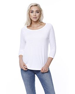 Ladies Cvc Long-Sleeve Raglan-