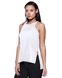 Ladies Cvc Side Slit Tank-