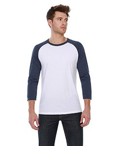 Mens Cvc 3/4 Sleeve Raglan-