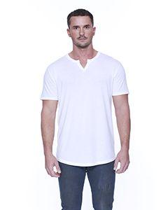 Mens Cotton/Modal Slit V-Neck-