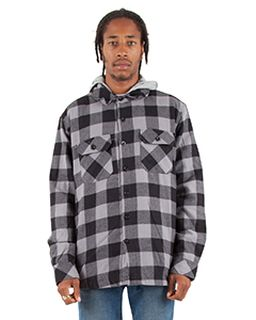 Adult Hooded Flannel Jacket-