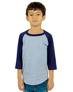 Youth 6 Oz., 3/4-Sleeve Raglan-