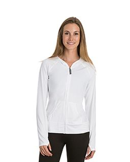 Ladies Endurance Full-Zip Hooded Sweatshirt With Back Mesh-Soybu