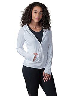 Ladies Endurance Full-Zip Hooded Sweatshirt With Back Mesh-