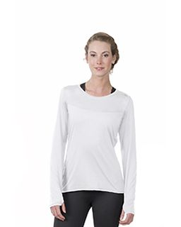 Ladies Endurance Long-Sleeve T-Shirt With Back Mesh Insert-
