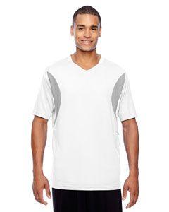 Mens Short-Sleeve Athletic V-Neck Tournament Jersey-