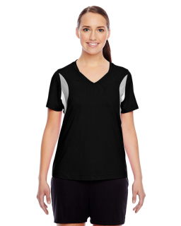 Ladies Short-Sleeve Athletic V-Neck Tournament Jersey