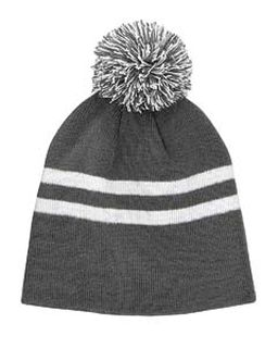 Striped Pom Beanie-
