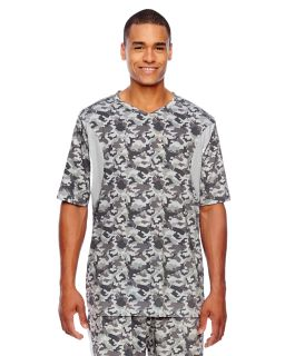 Mens Short-Sleeve Athletic V-Neck Tournament Sublimated Camo Jersey-