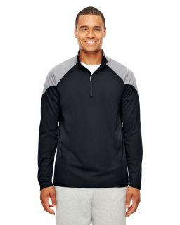 Mens Command Colorblock Snag Protection Quarter-Zip-